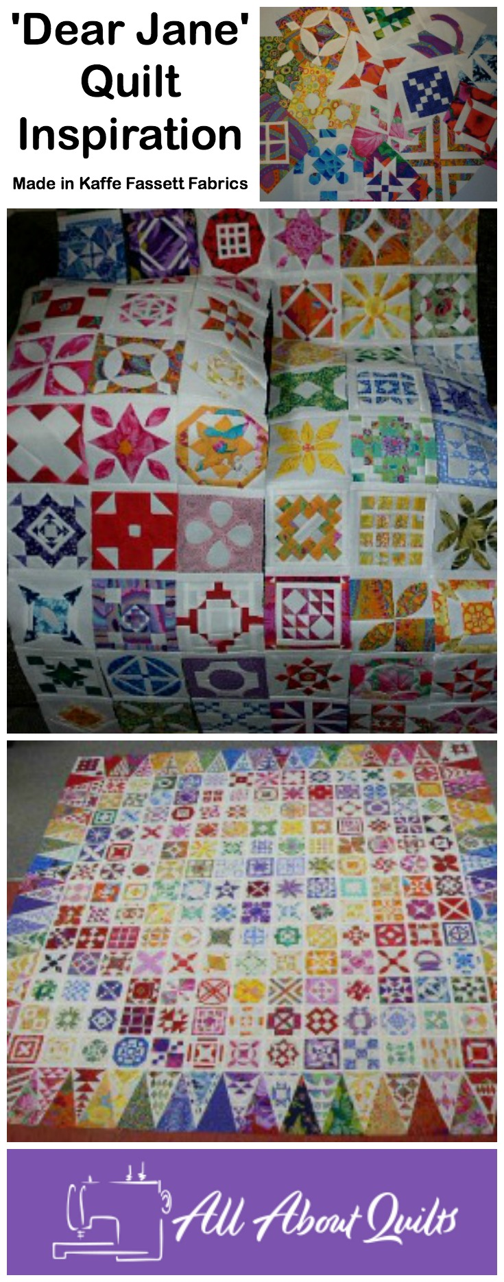 Dear Jane Quilt Pinterest Pin