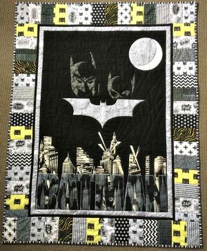 baby batman cot quilt