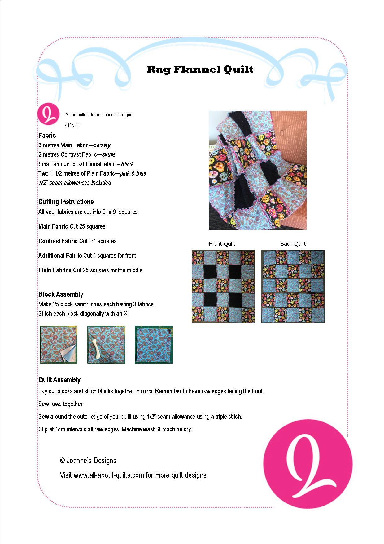 Rag Flannel Quilt Pattern
