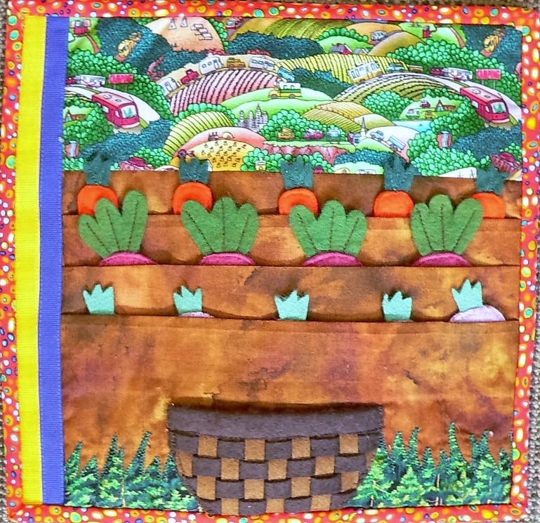 Quiet Book Veggie Garden Page