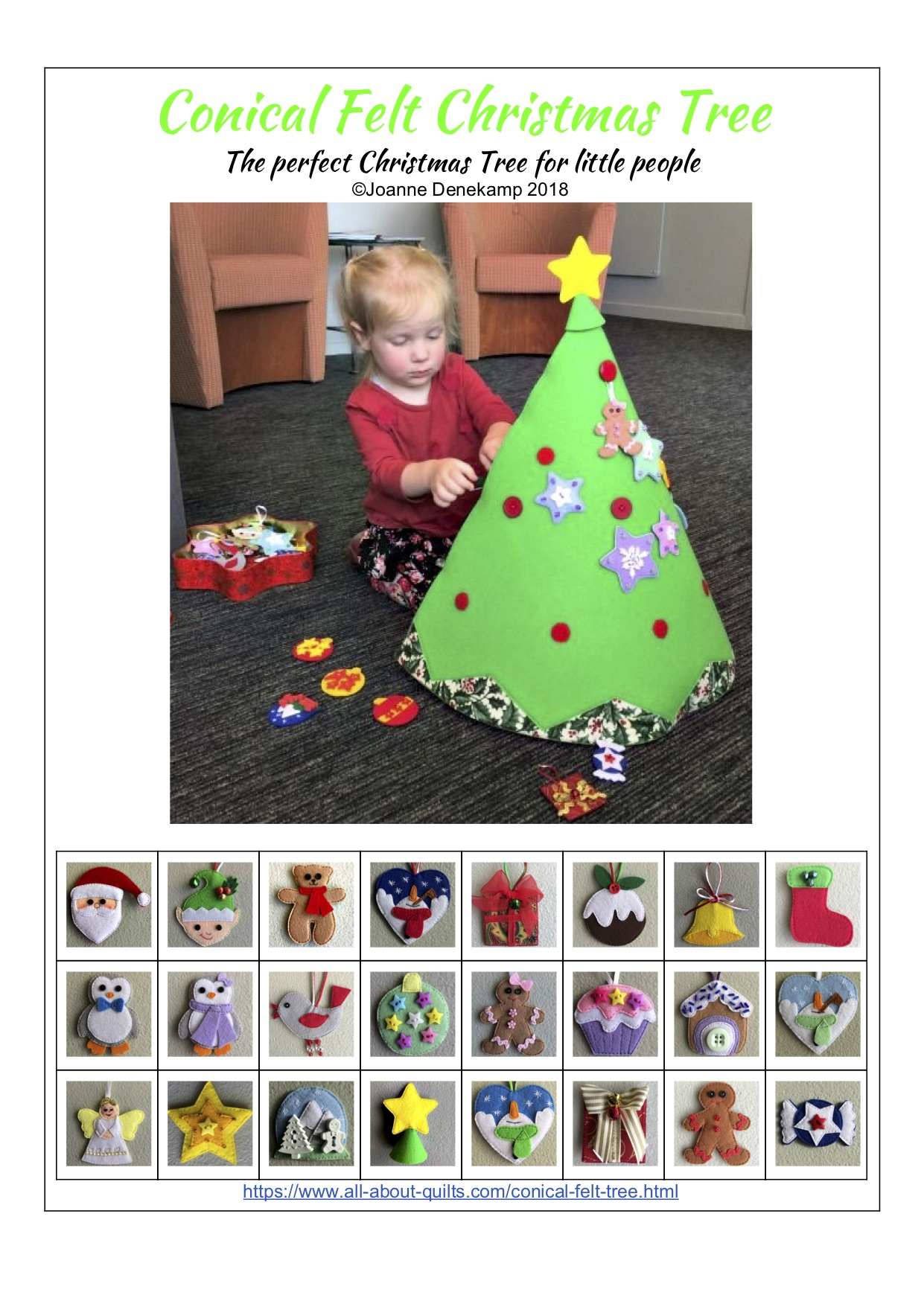 Conical Felt Christmas Tree Pattern