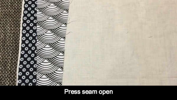 Open fabric and press