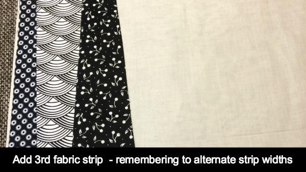 3rd fabric strip added