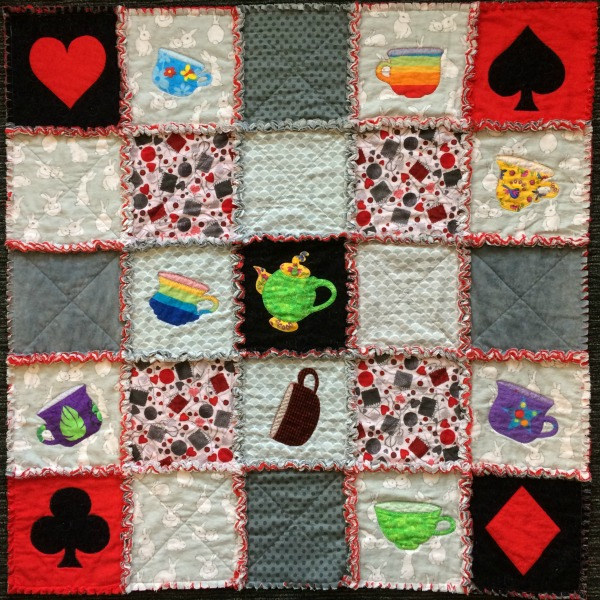 Alice in Wonderland Rag Quilt