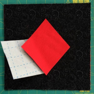 Apply applique to block