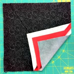 Rag quilt block structure