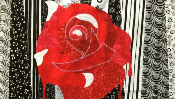 Alice rose applique ready to sew