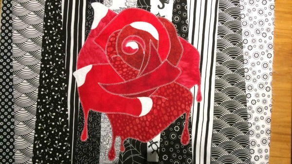 Alice rose applique