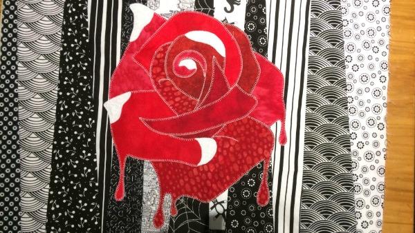 Alice rose applique