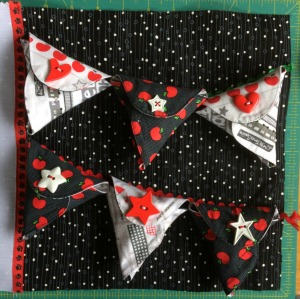 Busy Book bunting pockets with buttons