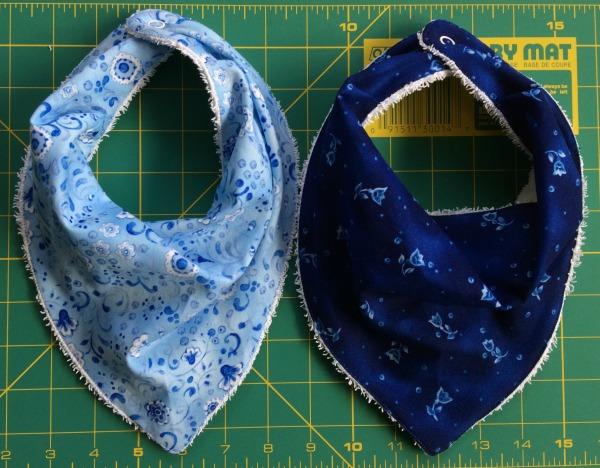 Two bandana bibs