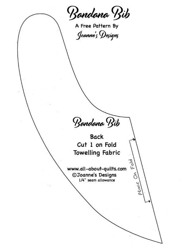 Bandana Bib Front Pattern