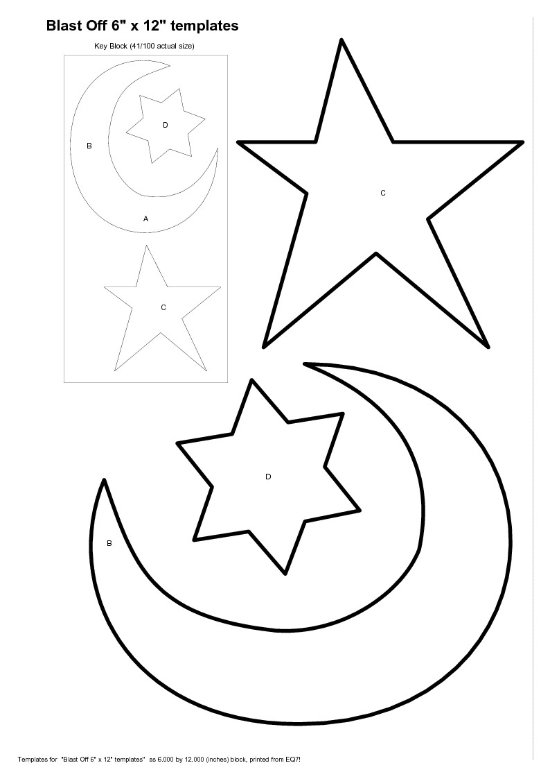 Templates For Stars Coloring Pages