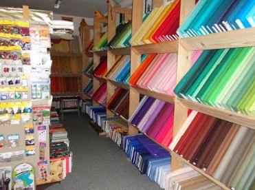 Fabrics inside Hexehüsli in Switzerland