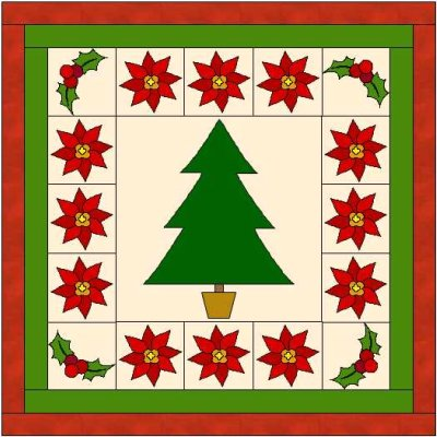 TREE QUILTING BLOCK PATTERN FREE Quilt Pattern