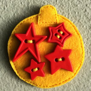 felt bauble Christmas tree decoration