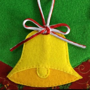 Felt Christmas bell decoration