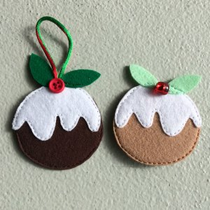 Felt Christmas pudding decoration