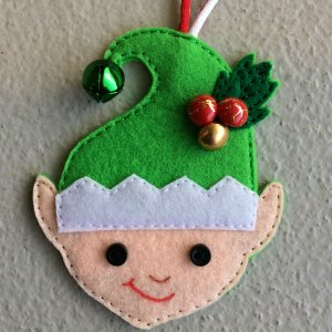 felt elf decoration