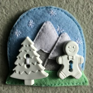 Felt snow globe decoration
