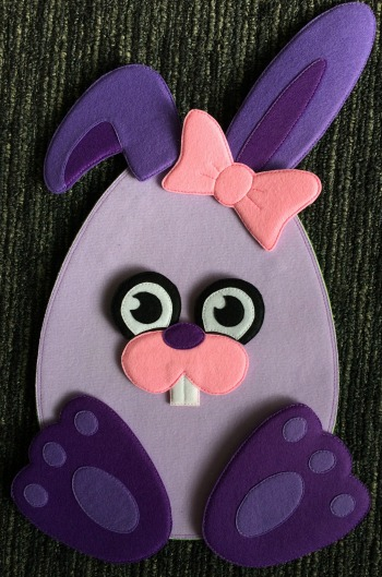 Felt Easter Egg Bunny Front View