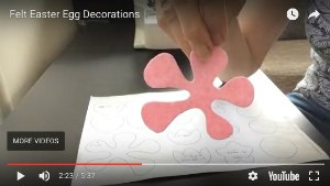 Felt Easter Egg decoration step 2