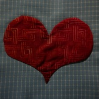 Applique Heart No Starch