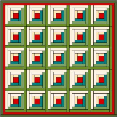 Log Cabin Quilt Designs Free