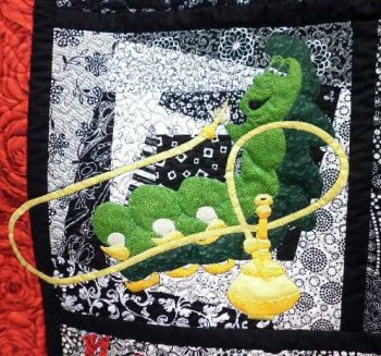 Alice in Wonderland applique Caterpillar