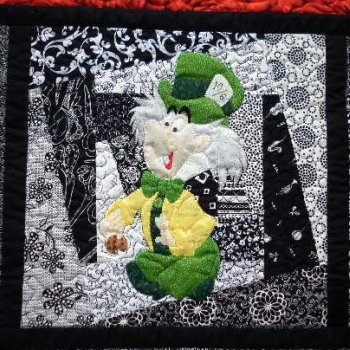 Alice in Wonderland applique Mad Hatter