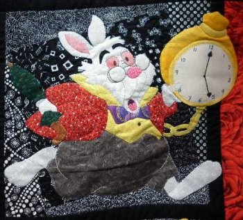 Alice in Wonderland applique The White Rabbit