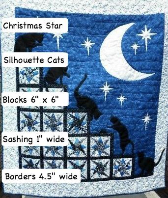 Cat Quilt Details