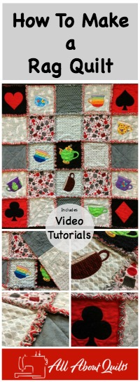 Pinterest pin Alice Rag Quilt