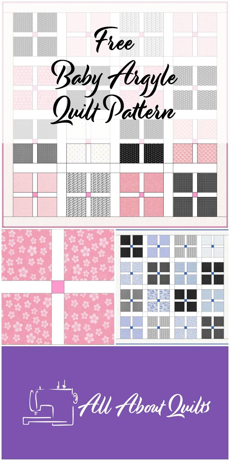Free baby Argyle quilt pattern