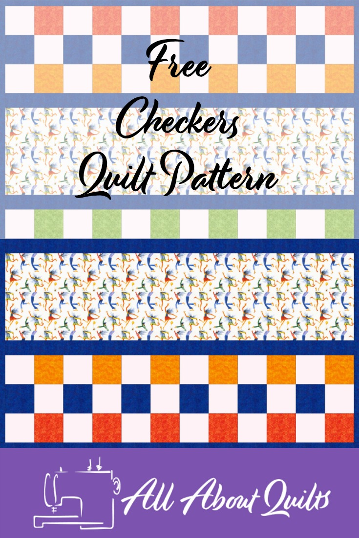 Free Checkers Quilt pattern week 14