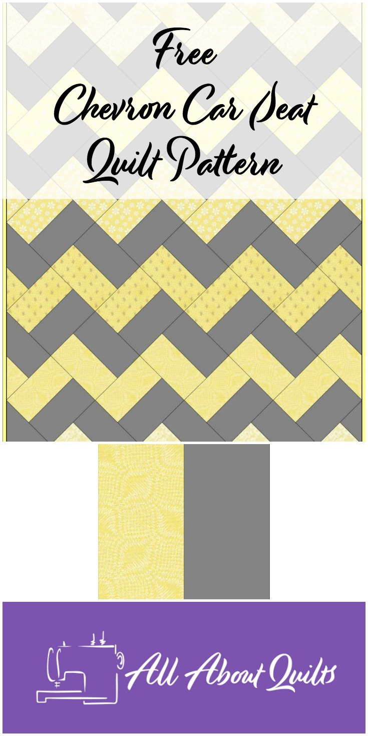 Free Chevron car seat quilt pattern