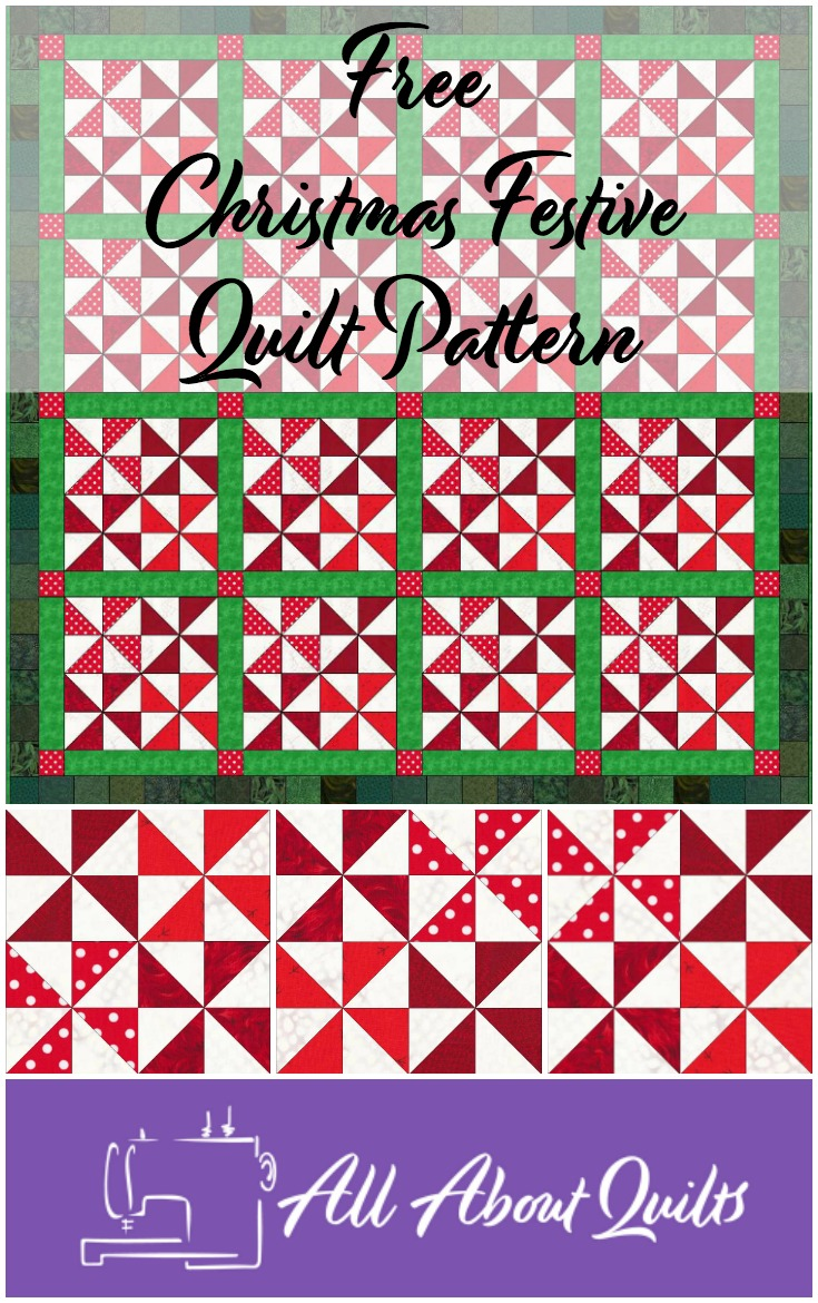 Free Christmas Festive quilt pattern