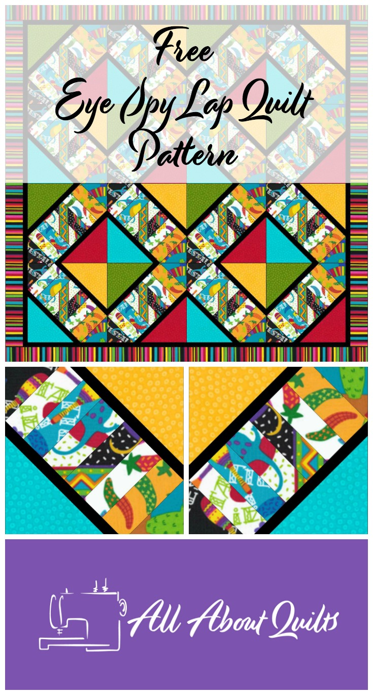 Free Eye Spy lap quilt pattern