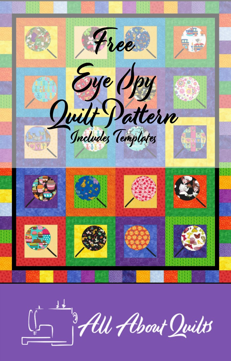 Free Eye Spy quilt pattern