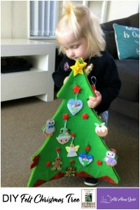 Pinterest Pin DIY felt Christmas tree