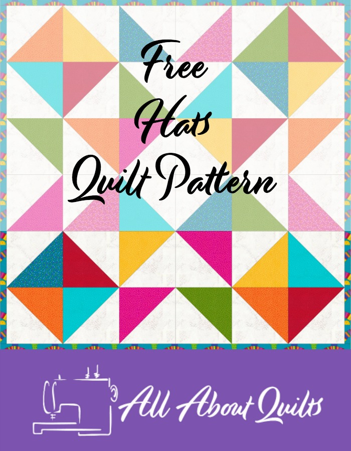 Free Hats quilt pattern