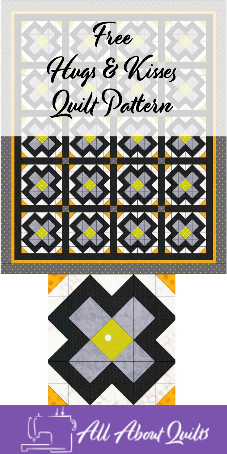 Free Hugs & Kisses quilt pattern