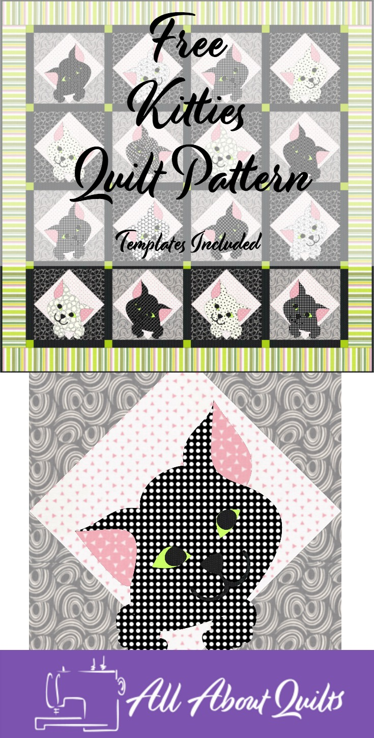 Free Kitties quilt pattern