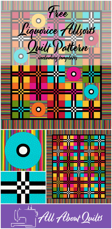 Free Liquorice Allsorts quilt pattern