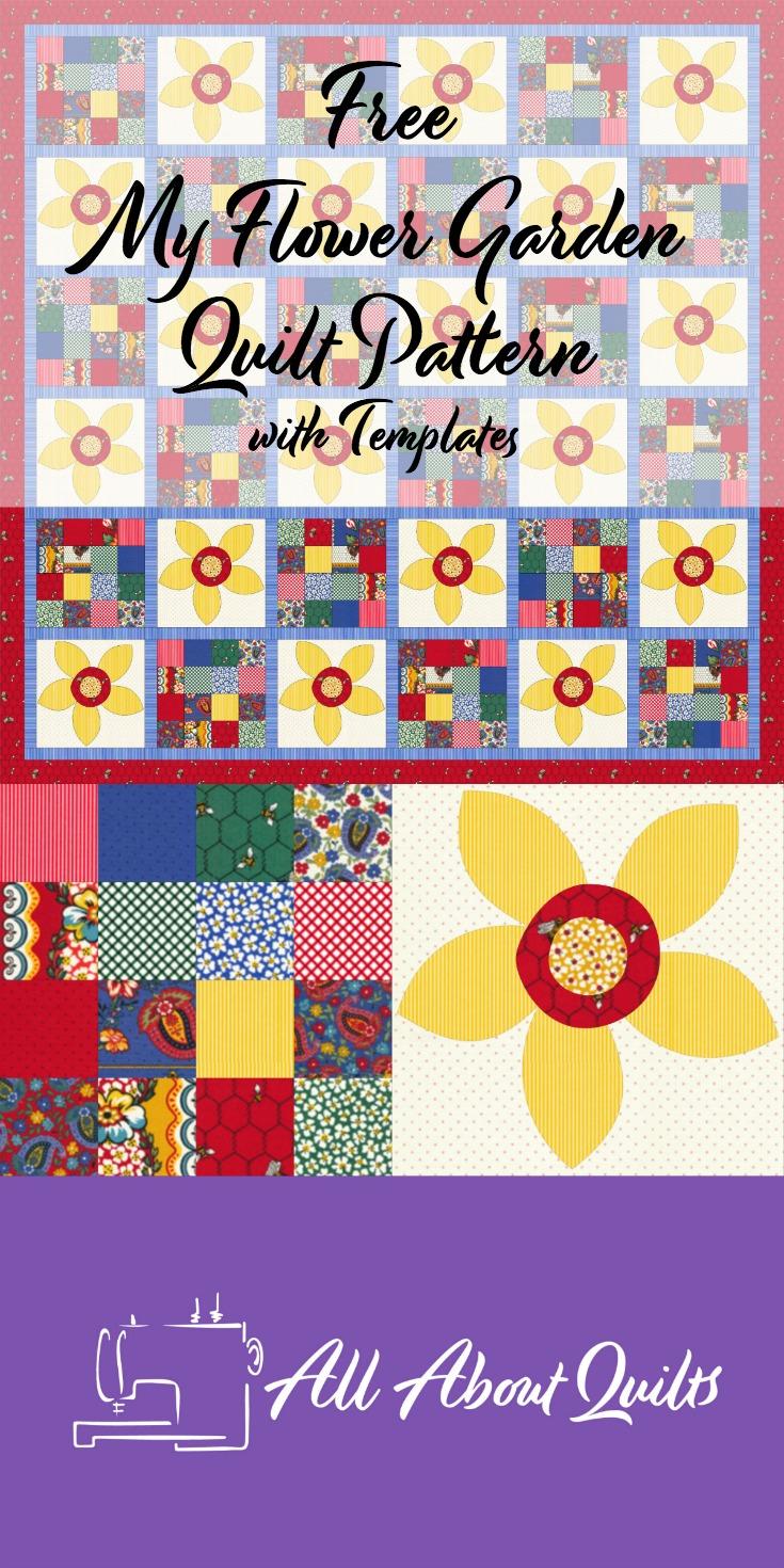 Free My Flower Garden quilt pattern