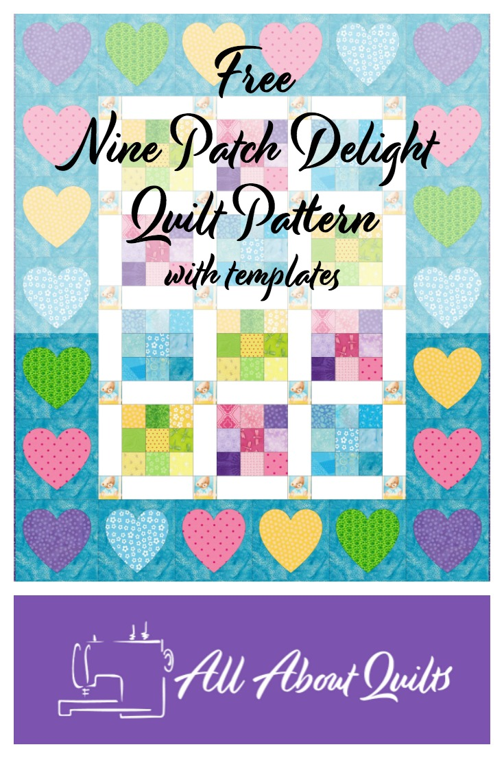 Nine Patch Delight quilt free pattern
