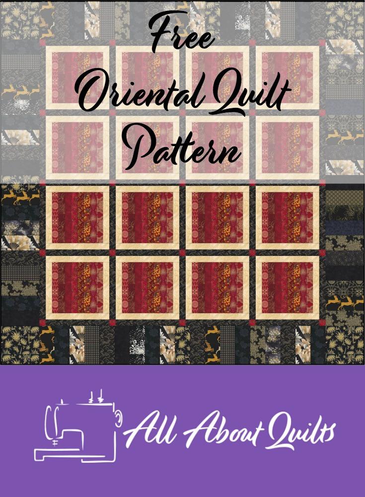 Free Oriental quilt pattern
