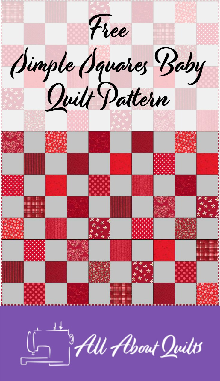 Free Simple Squares quilt pattern