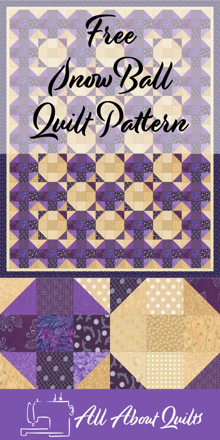 Free Snowball quilt pattern