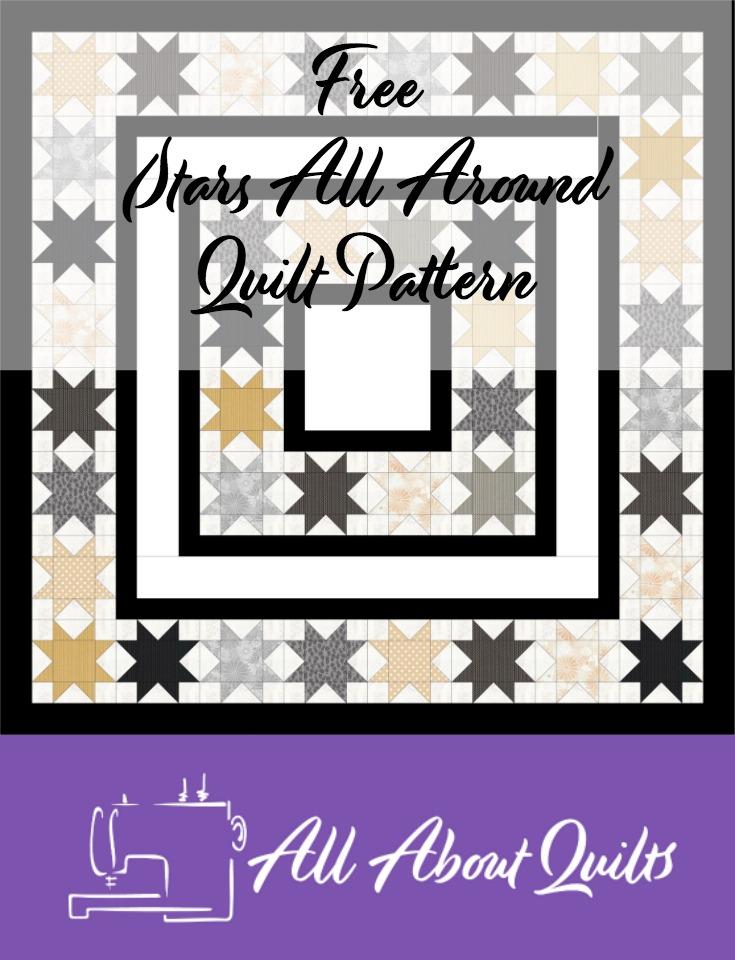 Free Stars all Around quilt pattern
